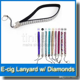 Wholesale Bling Electronic Cigarette - Bling Bling Diamond Necklace Lanyard String Neck Chain Lanyard Electronic Cigarette Neck Sling EGO Lanyard Necklace String with Diamond