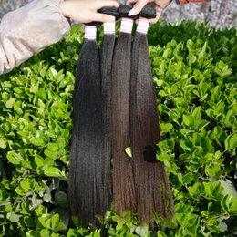 Wholesale Coarse Yaki Hair - 7A Best Brazilian Kinky Straight Weave 3 Pcs Lot,Kinky Straight Brazilian Virgin Hair Bundles,Italian Coarse Yaki Hair DHL Free Shipping