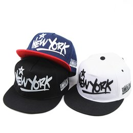 6f53ba989e3 Chinese Fashion Snapback Cotton Ball Cap 3D Letters New York Hip Hop Hat  Sunscreen Couple Flat