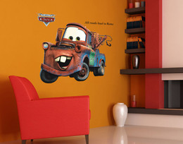 Wholesale Kids Room Wall Art Quotes - Retro Car Wall Art Mural Decor Living Room Bedroom Home Decoration Wallpaper Poster Sticker All Roads to Rome Wall Quote Graphic