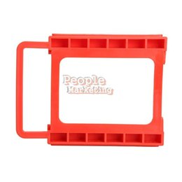 Wholesale Hdd Mounts - 2.5 to 3.5 Inch SSD Notebook HDD Hard Disk Mounting Adapter Dock Holder Red P4PM