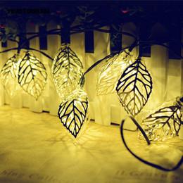 Wholesale string lightings - Wholesale- YINGTOUMAN Leaf-type Pendant LED Solar String Lights Outdoor Garden Christmas Party Festival Decorative Lightings 4.8M 20leds