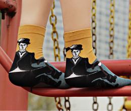 Wholesale Marilyn Monroe Knitting - Classic Characters Socks High Quality Ladies Socks MJ Marilyn Monroe Chaplin Socks Funny Socks for Women Ankle Socks Adult Socks m974