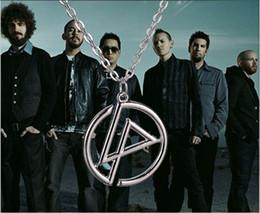 Colgante linkin park online-Chapado en plata punk aleación Rock Band Linkin Park collar polaco Símbolo Insignia colgante Medalla collar hombres boy girl 2017 mujeres Caliente x077