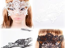 Wholesale Christmas Lingerie For Black Women - LACE mask lingerie hot sexy Black lace mask Nightclub patch Cosplay Fancy-dress Party patch pop Party Masks