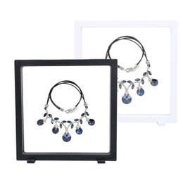 Wholesale Wholesale Jewelry Racks - 18*20cm PET Membrane Accessories Jewelry Necklace Packaging 3D Display Box Bague Jewellery Presentation Stand Holder Rack