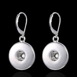 Wholesale ship chandelier for sale - New Round Noosa Chunk button Earrings Interchangeable hot sale diy Dangle & Chandelier for women free shipping