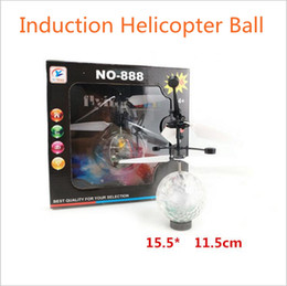 Wholesale Infrared Helicopter - RC Toy RC infrared Induction Helicopter Ball Built-in Shinning LED Lighting for Kids, Teenagers Colorful Flyings for Kid 70 pcs YYA882