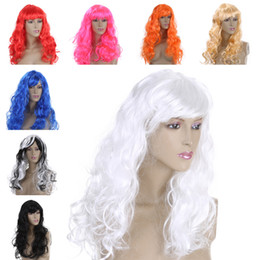 Wholesale Wig Chocolate - FESTNIGHT 7 Color Women's Wig Fashion Long Curly Hair Full Wig Halloween Masquerade Cosplay Stage Show Costume Party Decoration