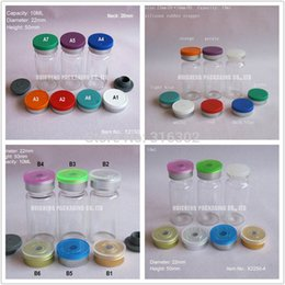 Wholesale Glass Injection Bottles - Free Shipping - 100 lot 10ml Clear Injection Glass Vial &Flip Off Cap, 1 3oz Amber Glass Bottle, 10cc Glass Containers