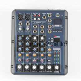 Wholesale Audio Mixer Microphone - RMV6 2 2 Mono + 2 stereo 6 Channels 3 Band EQ 1AUX 1 Return 16 DSP Effect USB Professional DJ Audio Mixer Console