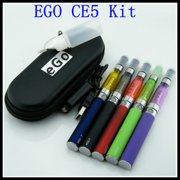 Wholesale Ce5 Starter Case - 2015 best e cigarette ego ce5 starter kits ego t battery with ego CE5 atomizer ecigand e-Cigarette cigarro eletronico case