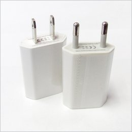 Wholesale Ipad Ac - 5V 1000ma 1A Universal EU US Plug Slim USB Wall Charger AC Power Adapter for iphone 4 4S 5 5G ipad mini ipad2 USB Chargers cell phone MQ200