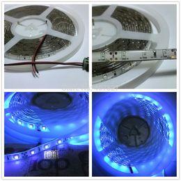 Wholesale Boat Lights Strip - Wholesale-5M LED Strip Light UV Ultraviolet Purple Color Light Waterproof IP65 3528 SMD 60led M DC12V Night Fishing Boat BlackLight