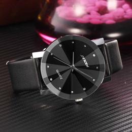 Wholesale Sinobi Wrist Watch - 2015 New SINOBI Watch Luxury Brand Diamond Crystal Silver Case Elegant Men Quartz Wrist Gift Dress Men's Leather Strap Watches