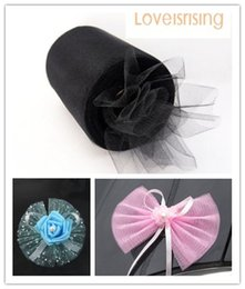 """Wholesale Tulle Spools Free Shipping - Tracking Number---4 Rolls 6""""x100y Black Color Tulle Rolls Spool Tutu DIY Craft Wedding Banquet Fabric Wedding Car Decor--Free shipping"""