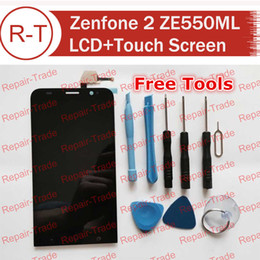 Wholesale asus cell phones - Wholesale-LCD Screen For Zenfone 2 ZE550ML 5.5inch LCD display+Touch Panel replacement For ASUS Zenfone 2 ZE550ML 5.5inch Cell Phone