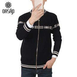 Wholesale Cardigans For Men Sale - Wholesale-OASAP Fashion cardigan for men Geometric Stand Collar Zipped Cardigan For Men hot sale autumn winter knitted cardigan-89189