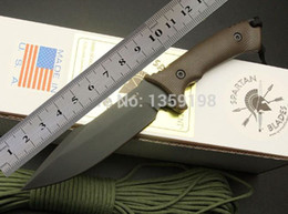Wholesale Plastic Hunting Knife - SPARTAN Harsey Hunter Model II, Tactical Knife Camping Knife Hunting Knives, Outdoor Tools, Free Shipping