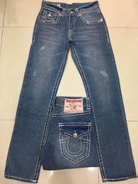 Wholesale Leopard Jeans Men - NEW Free Shipping True High quality new Men's Robin Rock Revival Jeans Crystal Studs Denim Pants Designer Trousers Men's size 30-40 JEANS 02