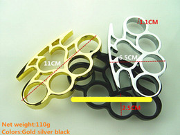 Wholesale self defense brass knuckles - Spades Knuckle dusters Metal alloy Brass knuckles Self Defense tool Personal Security equipment Iron fists Boxing gloves Gold Black Silver