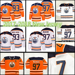 Wholesale Ryan Nugent Hopkins - 2018 New Edmonton Oilers Hockey Jerseys 17-18 Men #97 Connor McDavid 93 Ryan Nugent-Hopkins stitched Jersey