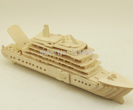 Wholesale 3d Cruise Ship - Wholesale-Scale Titanic Educational Wooden Model Souvenir 3d Puzzle Cruise Ship Liner Luxury Yachat