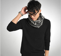 Wholesale Korean Winter Fashion For Male - 201Brushed male models Korean version of the fall and winter fashion warm winter woven cashmere scarves for men#508