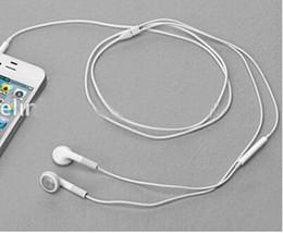 3gs mic Rebajas 2015 recién llegado de la venta caliente de alta calidad Auriculares al por mayor 10 unids auriculares + micrófono para el iPhone 4 4G 4S 3GS 3G envío gratis