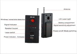 Wholesale wireless bugging devices - XB-68 Multi-Detector Full-Range All-Round Wireless RF Subminiature Cameras Bug Detector Finder Alarm GSM Device Finder