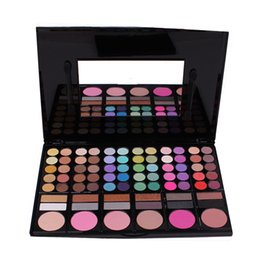 Wholesale Pro 78 Full Color Eyeshadow - Wholesale- New Pro Makeup Set 78 Color Eyeshadow Palette Cheek Blush  Pressed Powder  Eye Shadow Makeup Palette Glitter Eyeshadow