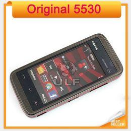 Wholesale Gsm Red - Original Nokia 5530 XpressMusic refurbished Mobile Phone 5530 single core bar gsm single sim mobile phone