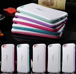 Wholesale Iface Cover Case - Newest dual Color iFace Case for iPhone 6 6S Plus 5 5S 4S Back Cover dot case iphone6