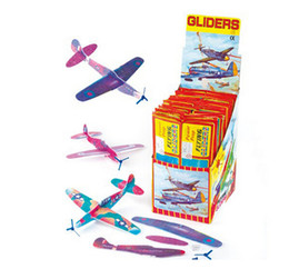 Wholesale Wholesale Foam Glider - Wholesale Puzzle Magic Flying Gliders Aircraft Plane Foam Back Airplane Kids Child DIY Educational Toy