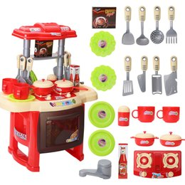 Wholesale Pretend Baby Food - Baby Miniature Kitchen Plastic Pretend Play Food Children Toys With Music Light Kids Kitchen Cooking Toy Set For Girls Games Hot