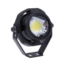 Wholesale Eagle Eyes Flashing Lights - 1 PCS 10W LED Car 3 Mode Strobe Flashing Eagle Eye LED Car Light DRL Daytime Running Reverse Backup Parking Signal Light Lamp