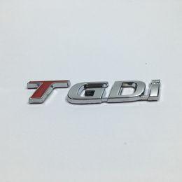 Wholesale Car Emblem Hyundai - Metal TGDI Emblem Car Rear Trunk Lid Emblem Badge Sticker For Kia For Hyundai T Gdi Logo