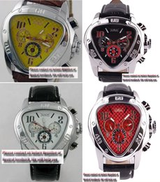 Wholesale Jaragar Watch Stainless Steel - Luxury brands Hot Sale Business Red Dial triangle automatic Multifunction 6 hands sport Jaragar watch
