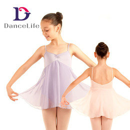 Wholesale Long Ballet Dresses - Free shipping Child long chiffion skirted dress C2138 wholesale ballet dance dress ballet dance clothing ballet dance costumes discount