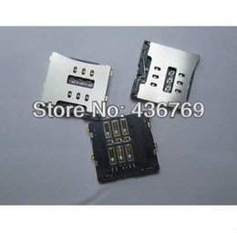 Wholesale Card Reader Iphone 4s - Wholesale-20pcs lot Sim Card Connector Reader Tray Socket for iPhone 4 4g 4S free shipping