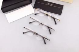 Wholesale Solid Frame Glasses - New eyeglasses frame MB Spectacle Frame eyeglasses for Men Women Myopia Brand Designer Glasses frame clear lens With Original case