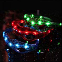 LED Spiderman Óculos Piscando Óculos Light Party Glow Máscara Natal Dia Das Bruxas Dias Presente Novidade LED Óculos Led Rave Toy Partido Óculos de Fornecedores de grinaldas iluminadas por atacado