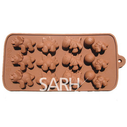 Wholesale Dinosaur Chocolate Moulds - 3D C005 dinosaurs' age shape fondant cake molds soap chocolate mould for the kitchen baking
