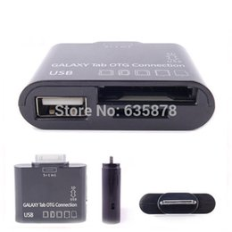 Wholesale Otg Micro Usb Galaxy Tab - USB Card Reader Connector Kit Micro for SD TF M2 MMC SDHC MS Adapter OTG For Samsung Galaxy Tab 2 P3100 P5100 P3100 P3000 N8000 order<$18no