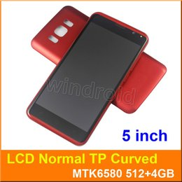 Wholesale Wholesale Smartphone Cases - S8 5 Inch Smartphone MTK6580 Quad Core Android 5.1 Dual SIM 3G Unlocked Curved Screen 854*480 Flashlight Mobile Cell phone Free with case 5