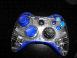 Wholesale Xbox Controller Mod Kit - Set of 11 Piece Blue Plastic Custom Mod Kit for Xbox 360 Wired or Wireless Controller