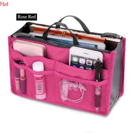 Wholesale Panel Organizer - Colors Make Up Organizer Bag Women Men Casual Travel Bag Multi Functional Cosmetic Bags Storage In Bag Makeup Handbag SV029015