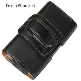 Wholesale Iphone 5s Belt - 5.5'' 4.7'' Clip Belt Leather Case for iPhone 6 Plus 4 4S 5 5S Hang Waist Holster Skin Cover Hanging Pouch