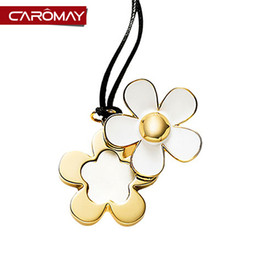 Wholesale Small Silver Cross Sterling - Kalome jewelry Korea fashion small daisy flower long necklace pendant accessories Korean female sweater chain