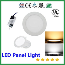 Wholesale Usa Studies - LED Panel Light 3w 4w 6w 9w 12w 15w 18w LED Downlight Stock In USA led recessed ceiling light SMD2835 panel lights AC85-265V